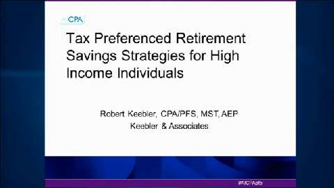 Tax Preferenced Retirement Savings Strategies for ....