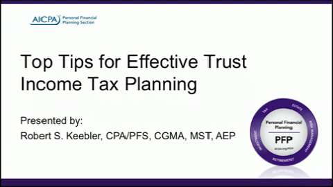 Top Tips for Effective Trust Income Tax Planning