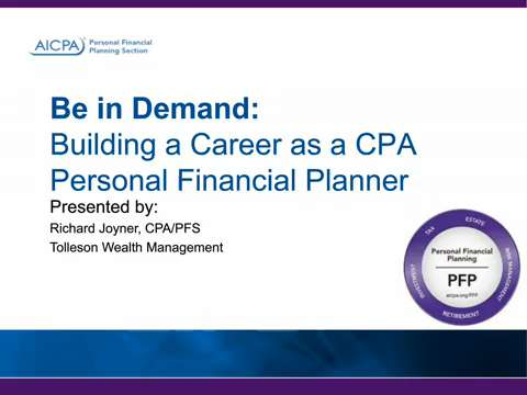 Be in Demand - Building a Career as a CPA Personal ....