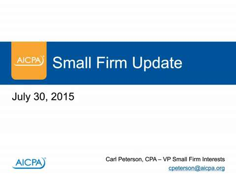 Small Firm Update - 7.30.2015