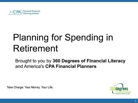 Planning for Spending in Retirement