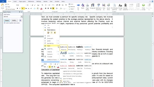 Automate the Table of Contents in Word