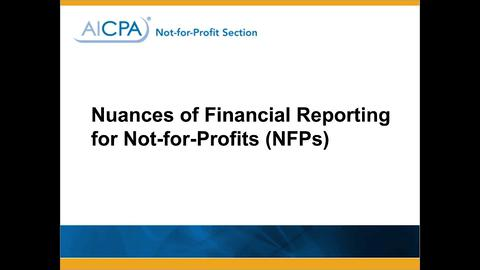 Nuances of Not-for-Profit Financial Reporting