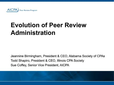 Evolution of Peer Review