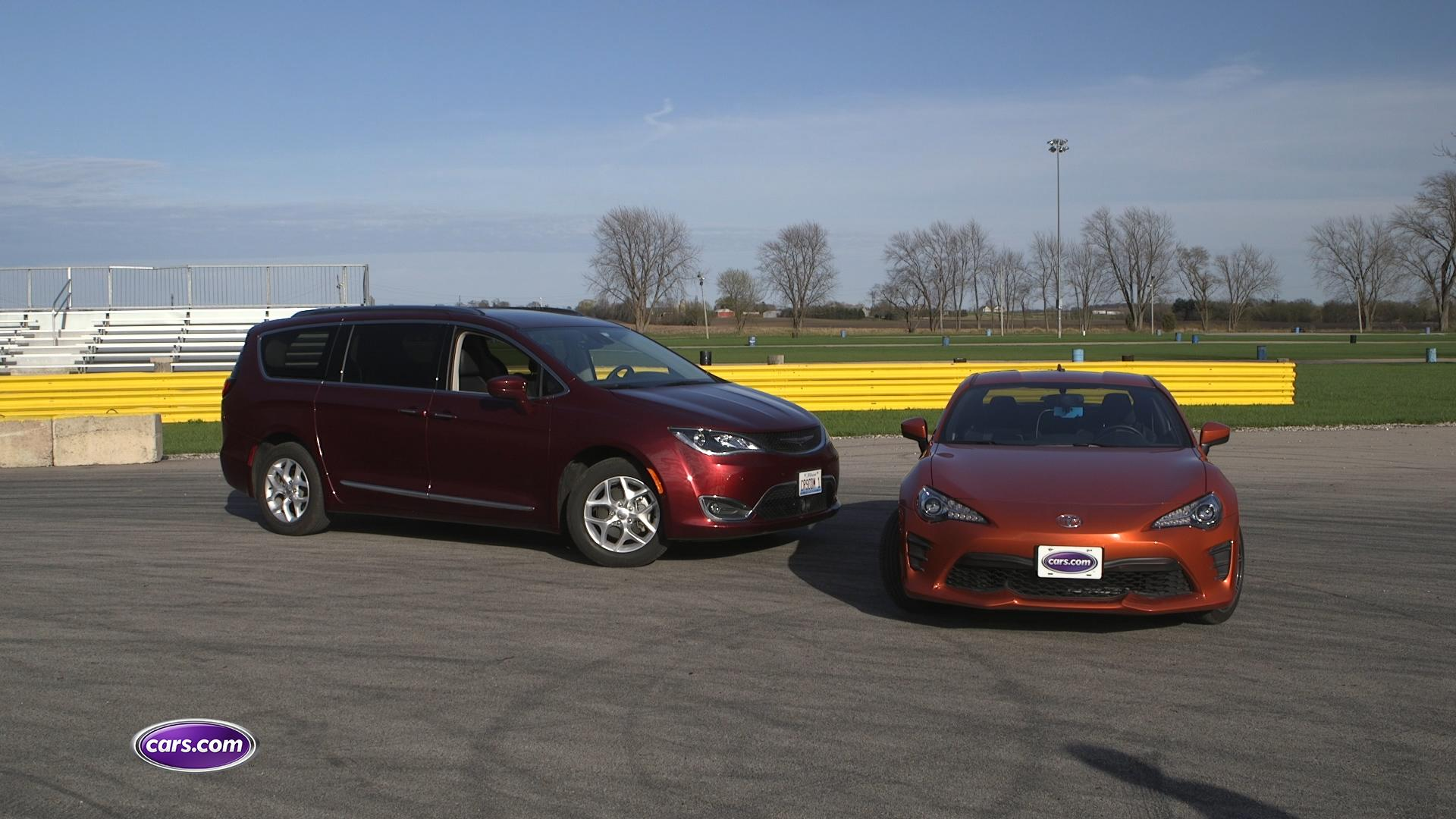 Dragstrip Challenge: 2017 Chrysler Pacifica vs. 2017 Toyota 86