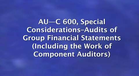 New Clarity Standards: AU-C 600: Special ....