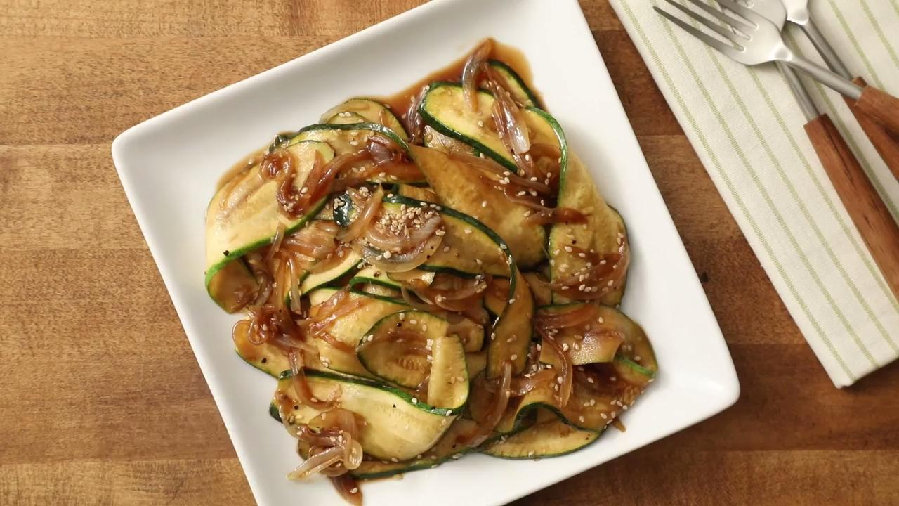 Japanese Zucchini and Onions Video
